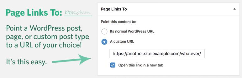 WordPress插件 - 页面任意链接插件:Page Links To