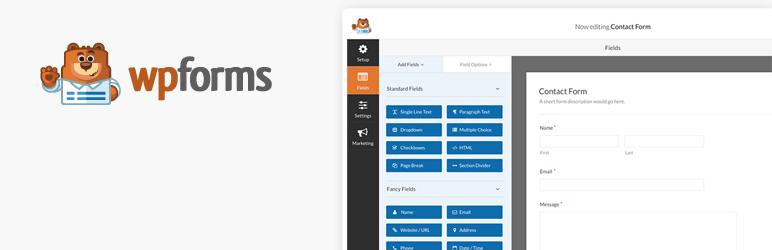 WordPress插件 - 联系表单插件:WPForms