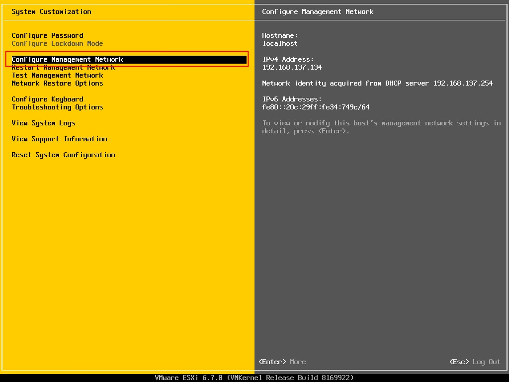 [主机运维]香港服务器中安装VMware ESXi6.7的系统