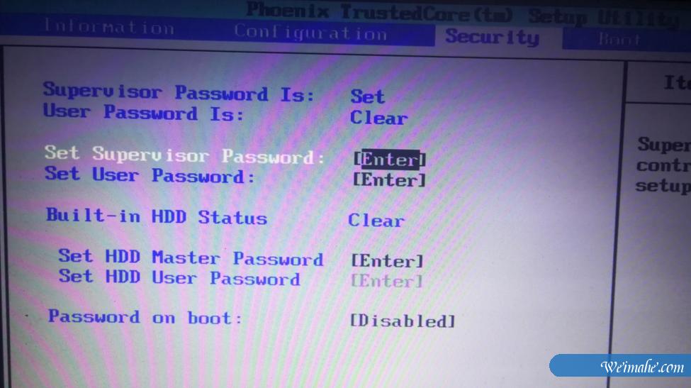 [系统知识]bios密码如何设置