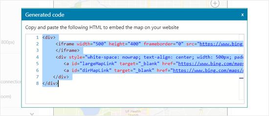 如何在WordPress中嵌入Bing地图