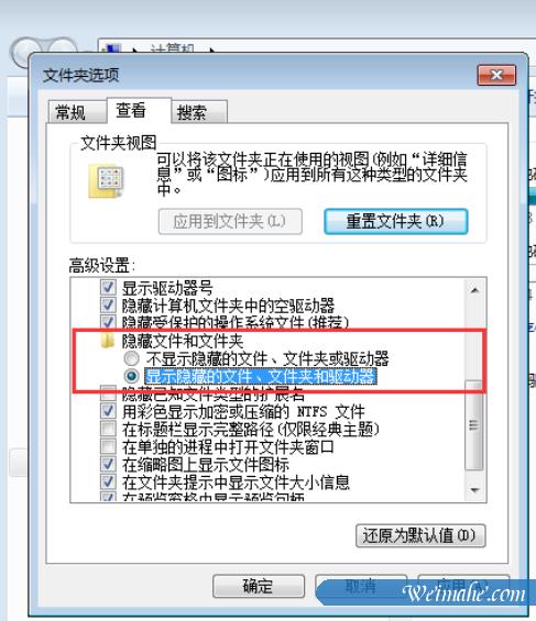 [系统知识]怎么显示隐藏文件夹