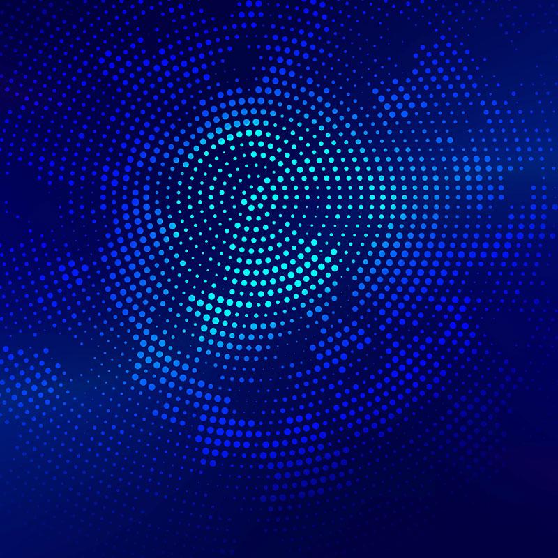 [代码样式]漂亮的亮蓝色半色调背景(EPS)