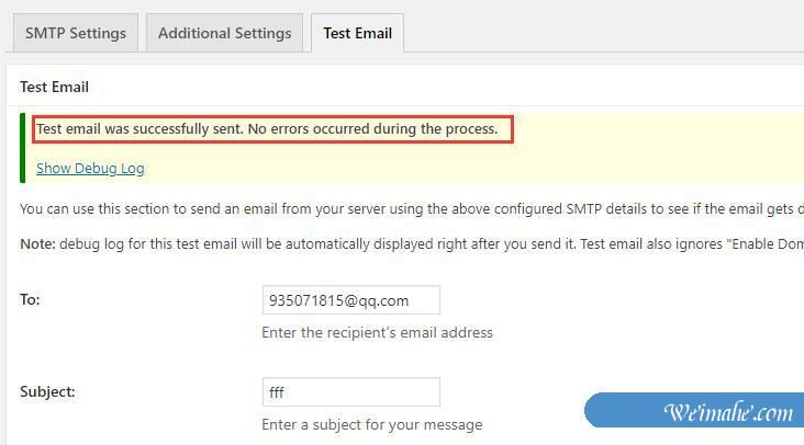 WordPress如何设置才可以使万网虚拟主机发送邮件