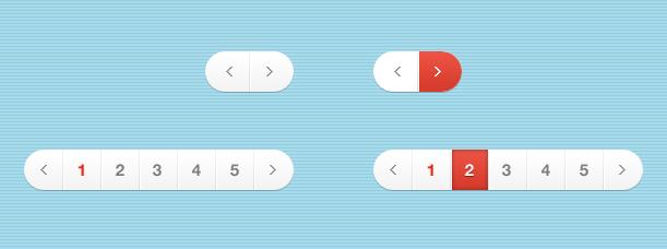 [代码样式]灰色红色风格分页HTML