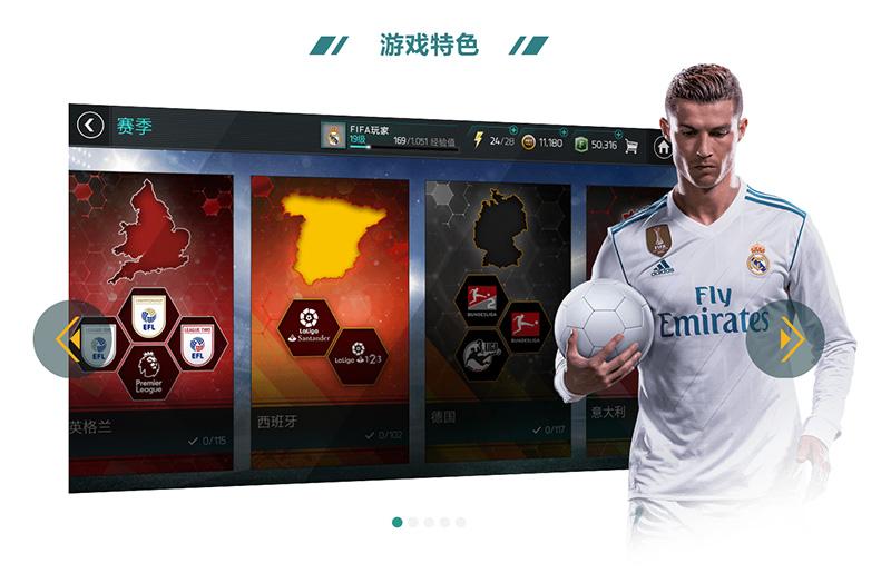 [代码样式]Swiper制作《FIFA足球世界》游戏特色幻灯片