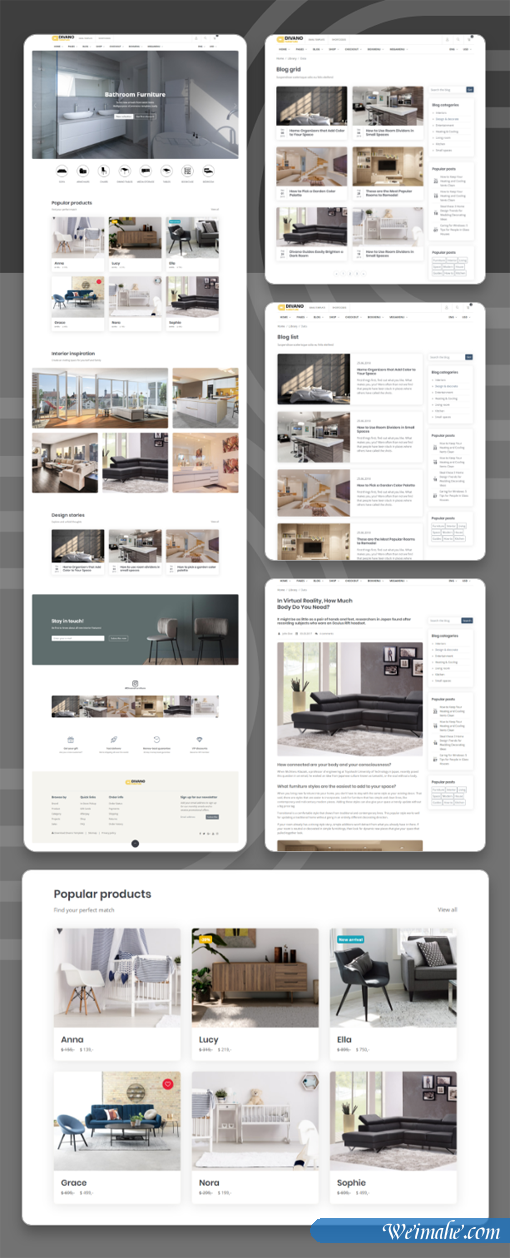 优雅的家具电商购物企业官网电商模板
