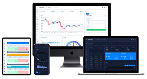 区块链数字货币管理系统网页模板