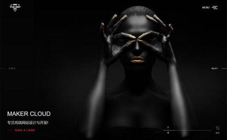 [织梦模板]dedecms黑色高端响应式全屏滚屏摄影相册艺术设计公司网站模板(自适应手机移动端)_源码下载