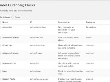 WordPress插件 - 古腾堡编辑器辅助插件:Disable Gutenberg Blocks