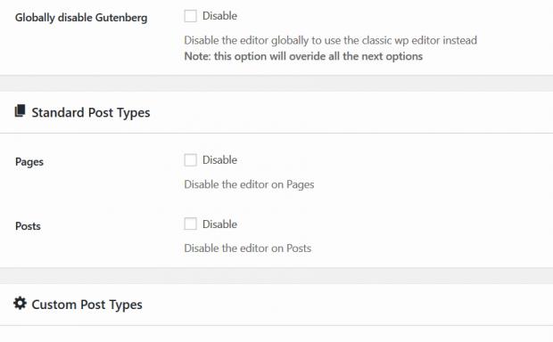 WordPress插件 - 古腾堡编辑器功能辅助插件:Gutenberg Manager