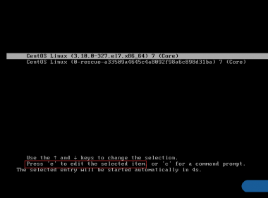 Centos7 进入单用户模式下完美重置root密码