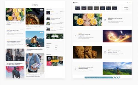响应设计博客HTML模板带电商页面